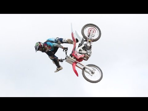FMX Double Backflip Combo - First Time on Nitro Tour!