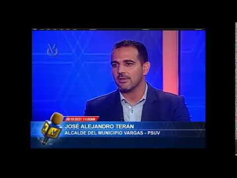Entrevista Venevisión: José Alejandro Terán, Candidato a la Gob. de la Guaira  - 08 de Oct del 2021