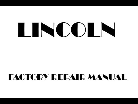 lincoln ls 2003 2004 2005 2006 factory repair manual youtube rh youtube com Lincoln LS Brake Light Replacement Lincoln LS Manual 5 Speed