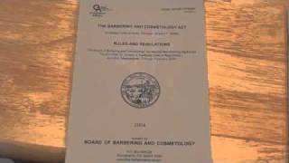 COSMETOLOGY: Rules and regulations for state board written exam