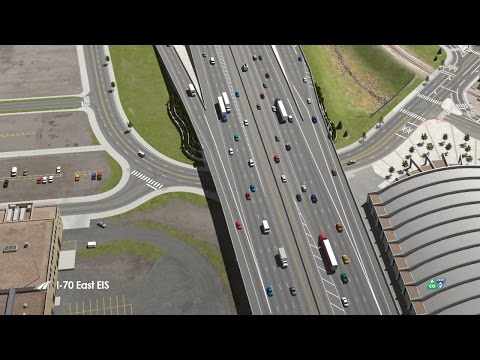 Flyover Animation of the I-70 Corridor (Jan 2017)  - I-70 East EIS Project