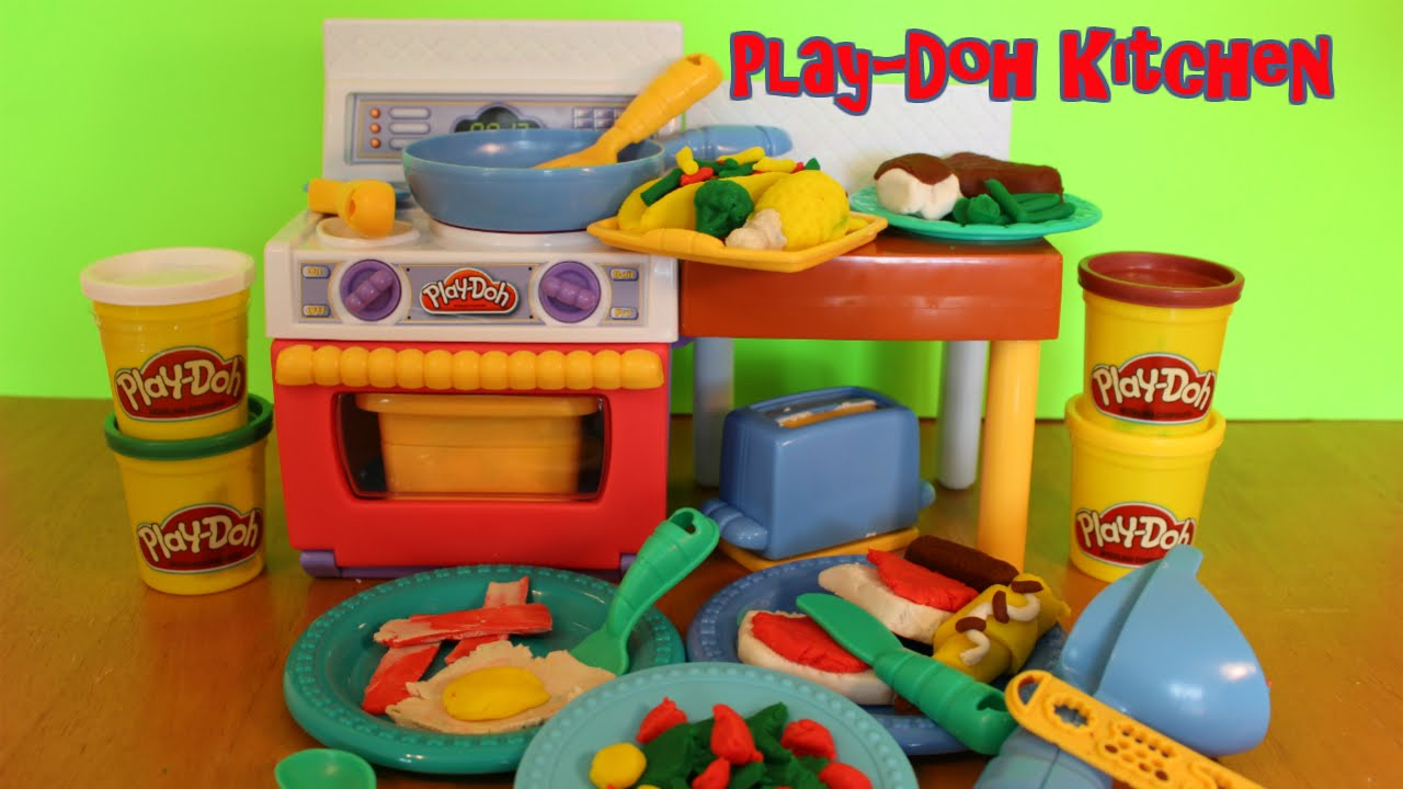 Play Doh Meal Makin Creations Kitchen Set Unboxing And Meal