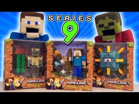 Minecraft Survival Mode SERIES 9 (5 Inch Action Figures) Guardian, Desert Husk Mattel Unboxing