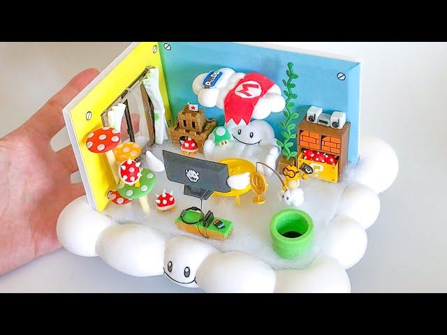 【粘土】ジュゲムが住んでそうな天空部屋 作ってみた【マリオ】Miniature Lakitu's Room (Mario) - Polymer Clay
