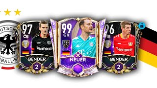 200M AMAZING GERMANY SQUAD BUILDER FT EOA BENDER BROTHERS FIFA MOBILE 21 GERMANY TEAM