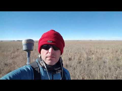 Backpack topo with Trimble R10 in Colorado