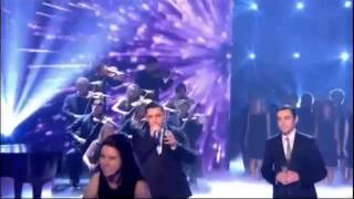 Simon Cowell Get hit by eggs on  Richard and Adam Britain's Got Talent 2013 final