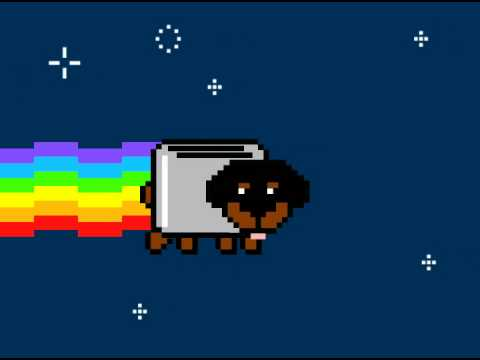 Nyan Cat...Meet Toaster Puppy - YouTube