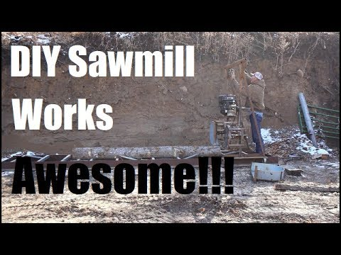 Homemade Sawmill Works Awesome!!! (Milling Beams For Porch)