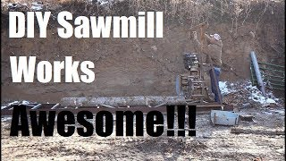 #276 - Homemade Sawmill Works Awesome!!! (Milling Beams For Porch)