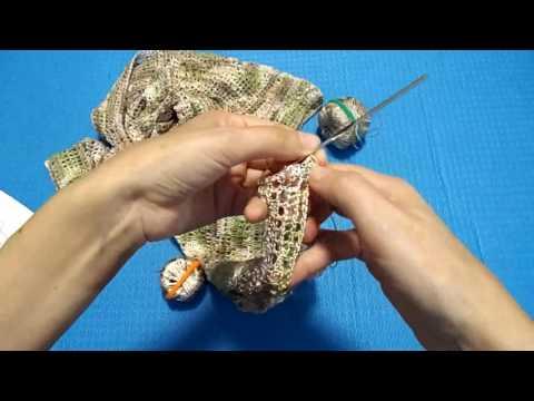 Вязание крючком. Как закрепить нить. Кардиган из микрофибры Tulip
