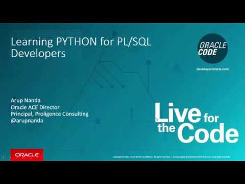 Learning PYTHON for PLSQL Developers