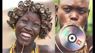 Украшения из мусора у африканских женщин