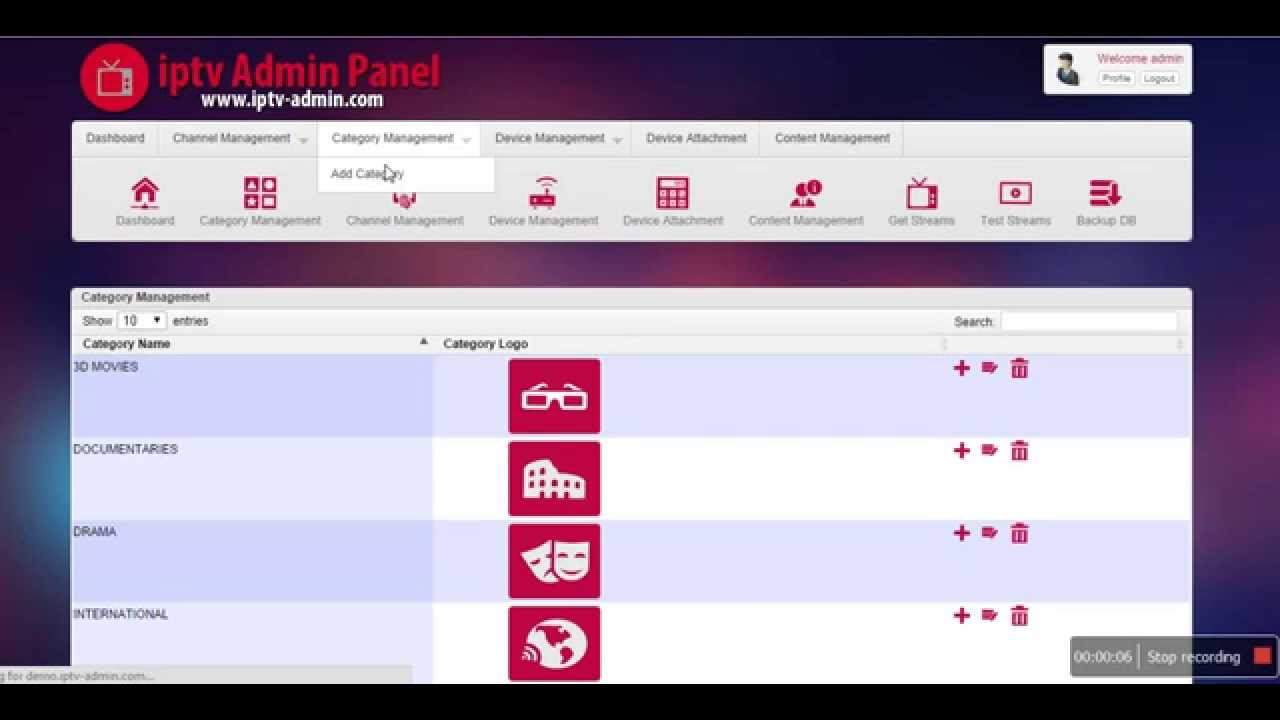 IPTV Admin 1 1 Free Download