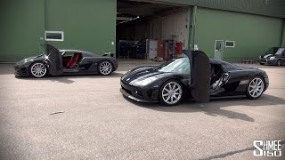 Two Koenigsegg CCXs Convoying in Sweden
