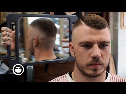 Unique Hard Part Skin Fade Haircut