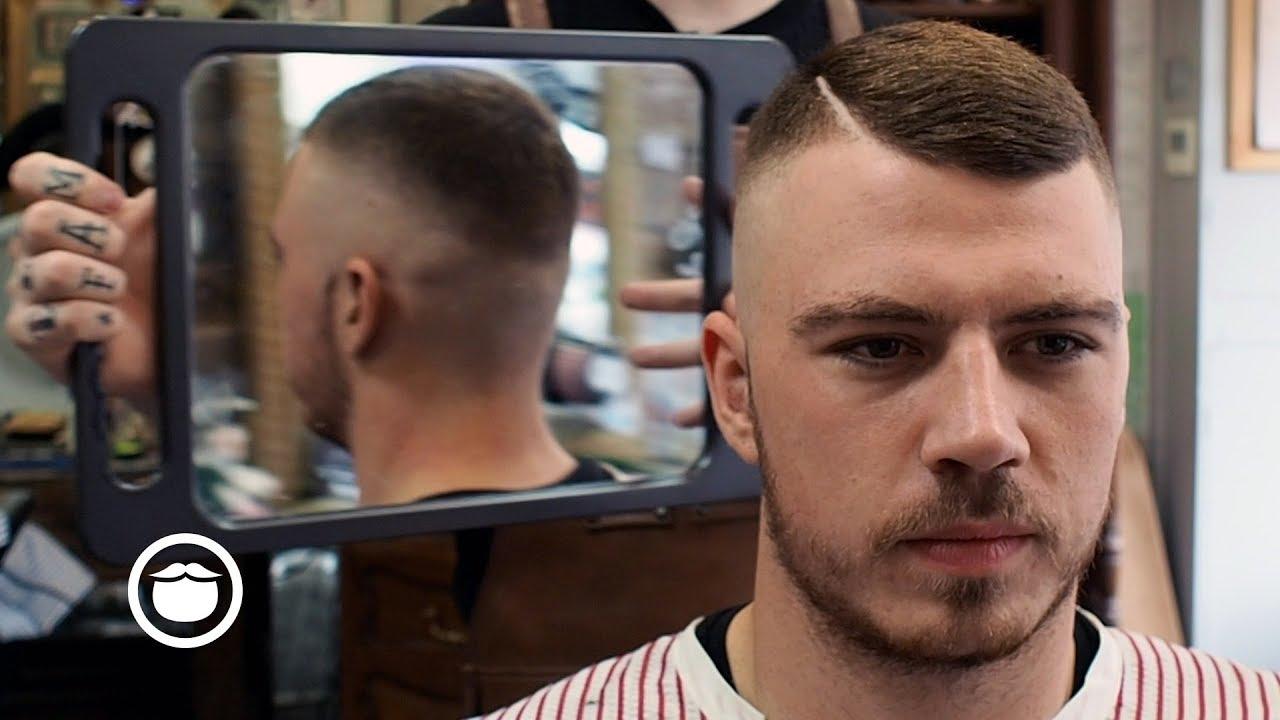 Unique Hard Part Skin Fade Haircut Youtube