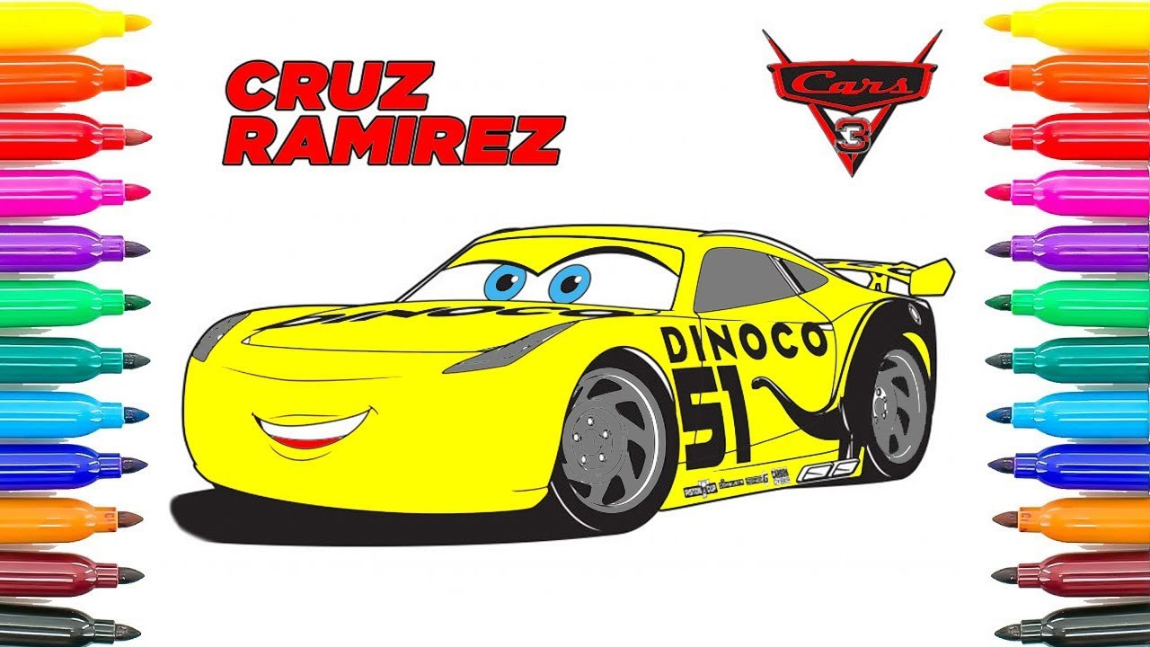 how to drav cars 3 cruz ramirez coloring pages how to coloring