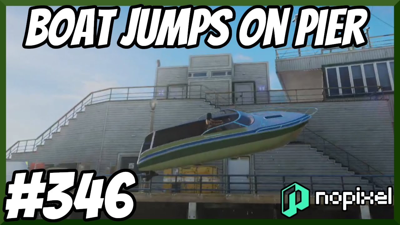 Jumping On The Pier With a Boat, Kid Is On Crack - NoPixel 3.0 Highlights #346 - Best Of GTA 5 RP