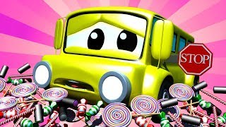 Tom the Tow Truck - Baby Lily the Bus Broke her sign - Car City ! Cars and Trucks Cartoon for kids