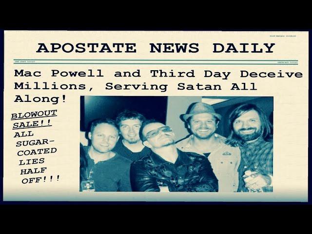 Mac Powell DENIES JESUS CHRIST! | Third Day Deceivers