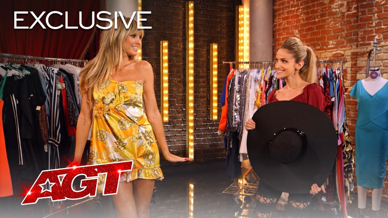 Heidi Klum Does Quick-Change With Lea Kyle! - America's Got Talent