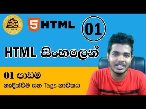 HTML සිංහලෙන් - Lesson 1
