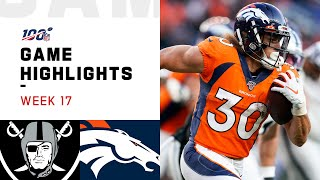 Raiders vs. Broncos Week 17 Highlights