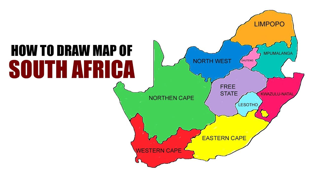 draw map of africa How To Draw Map Of South Africa Easy Youtube draw map of africa