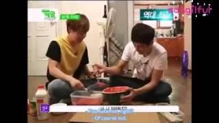 Sunggyu And L Infinite-recipe Of Making Watermelon Milk Soda [eng Sub] Cut