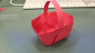 DIY - How to Make Paper Basket - Handmade Basket for Flowers and Easter - Tutorial