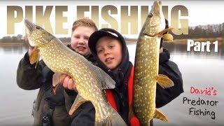 PIKE FISHING with David & Dennis (Fun Fishing!) - David's Predator Fishing | English subtitles