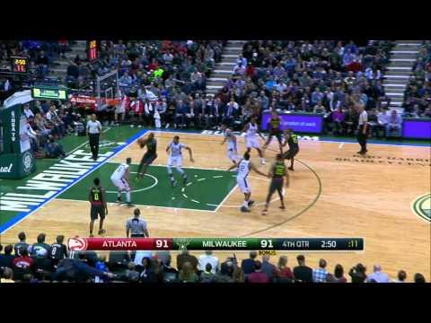 Atlanta Hawks vs Milwaukee Bucks | January 15, 2016 | NBA 2015-16 Season