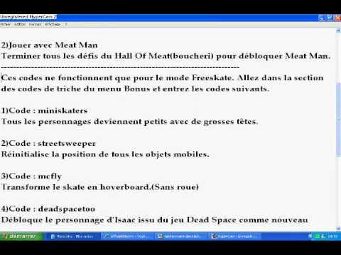 skate 3 xbox 360 code triche cheat code youtube