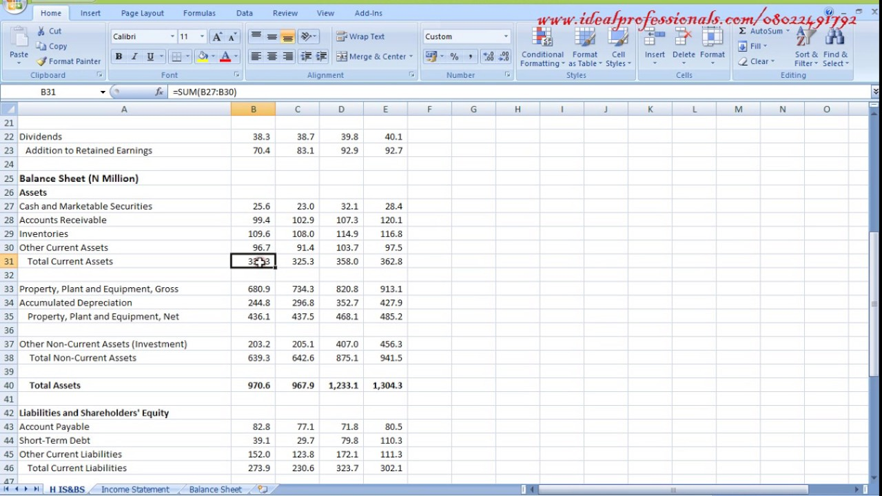 how to use excel for financial model cashflow youtube