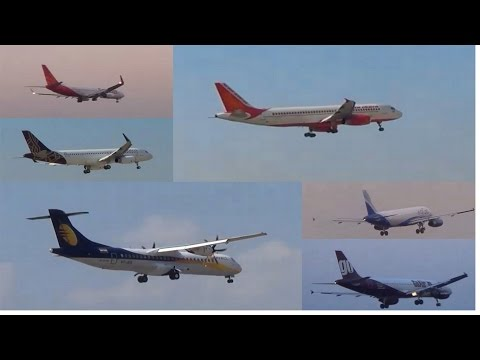 Go Air,Spicejet,Indigo,Vistara,Jet Airways and Air India Landing at Mumbai Airport