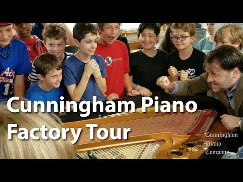 Cunningham Piano Factory Tour