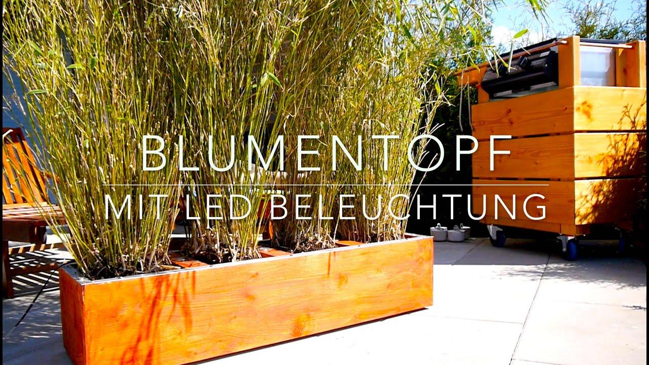 Holz Blumenkasten Selber Bauen Mit Sichtschutz Und Beleuchtung