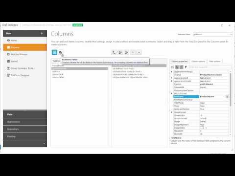 DevExpress WinForms Grid: Create & Manage Columns at Design