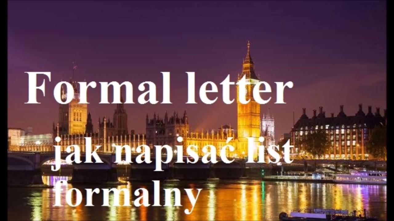 List Formalny Język Angielski Podanie O Pracę Skarga Jak
