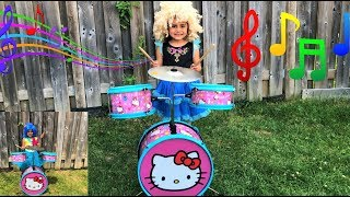 kids Pretend Play with DRUMS Music Toy & Sings Children Songs for Kids