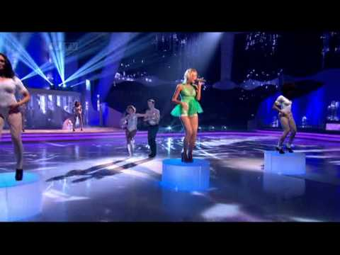 Pixie Lott -- Kiss The Stars Performs at Dancing On Ice (January 15, 2012)