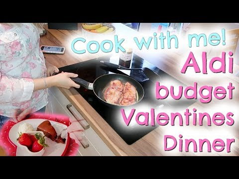 Cook with me, Aldi Budget valentines dinner