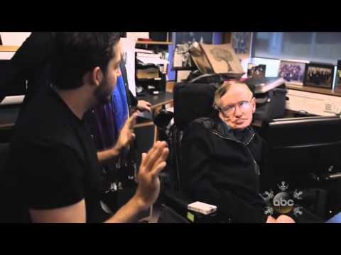 Stephen Hawking tricked by David Blaine