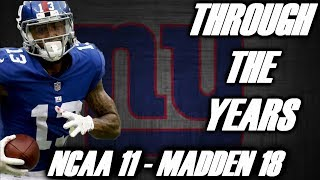 Odell Beckham Jr Through the Years - NCAA Football 11 - Madden 18