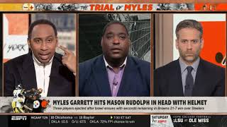 Damien Woody on Myles Garrett hits Mason Rudolph in head with helmet   First take