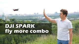 DJI Spark Fly more combo - обзор и тест на дальность в Москве