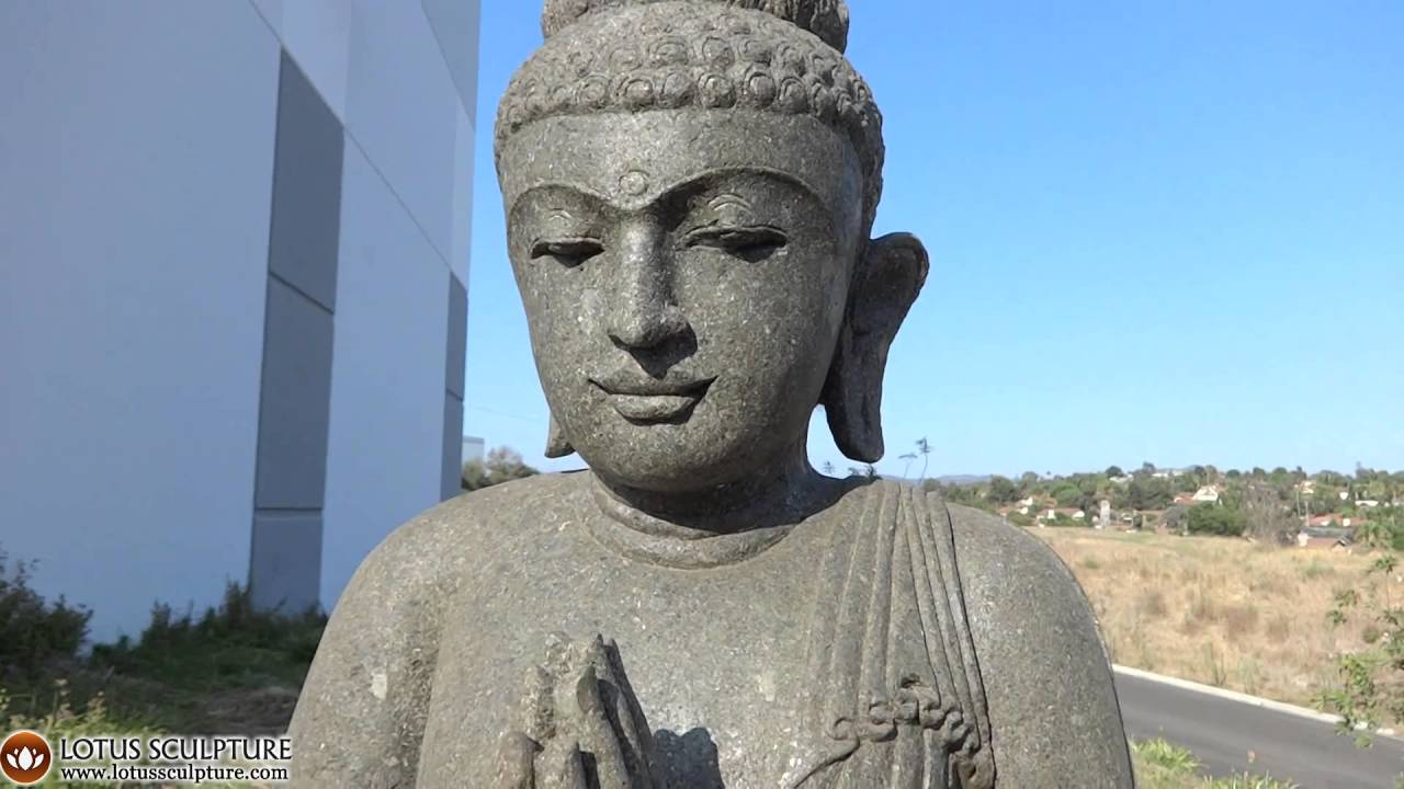 Beautiful Green Stone Namaste Garden Buddha Statue Www