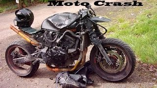 Жестокие падения с мотоциклов