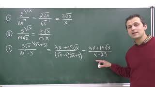 Алгебра 8. Урок 8 - Квадратный корень. Освобождение от иррациональности